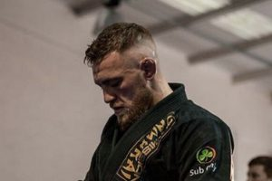 Premium BJJ gi with Conor McGregor in it